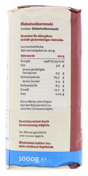 Schapfenmühle Dinkel Vollkornmehl