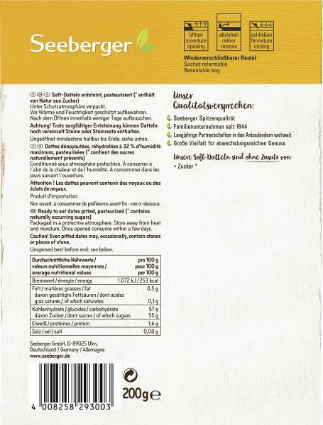Seeberger Soft-Datteln entsteint