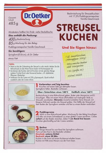 Dr. Oetker Streusel Kuchen