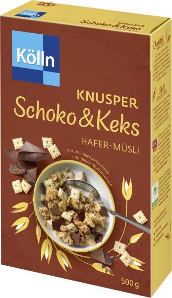 Kölln Knusper Schoko & Keks Hafer-Müsli