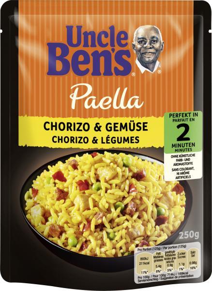 Uncle Ben's Paella Chorizo & Gemüse