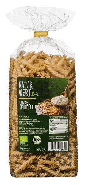 NaturWert Bio Spirelli Dinkel hell