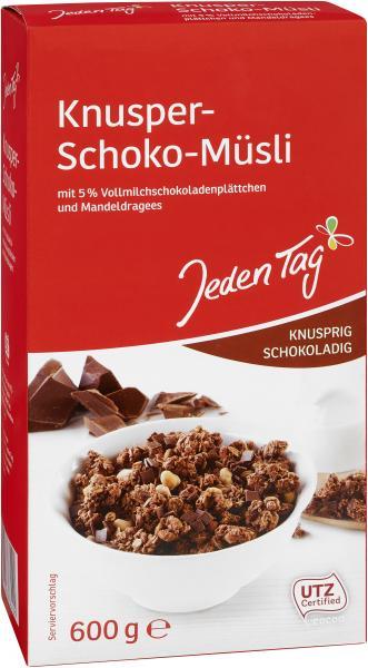 Jeden Tag Knusper-Schoko-Müsli knusprig schokoladig