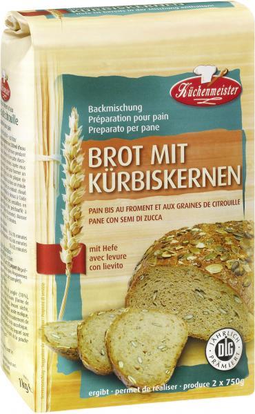 Küchenmeister Backmischung Brot mit Kürbiskernen