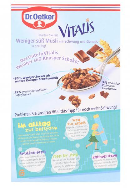 Dr. Oetker Vitalis Weniger Süß Knusper Schoko