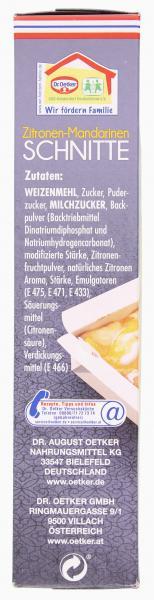 Dr. Oetker Zitronen-Mandarinen Schnitte