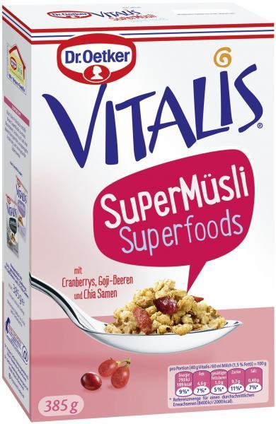 Dr. Oetker Vitalis SuperMüsli Superfoods