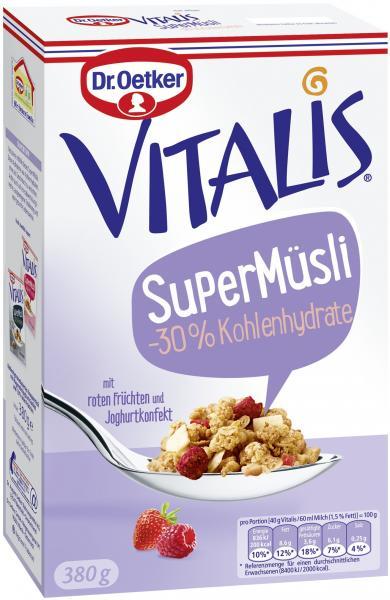 Dr. Oetker Vitalis SuperMüsli -30% Kohlenhydrate