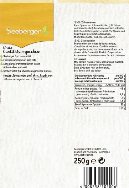 Seeberger Leinsamen