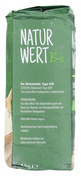 NaturWert Bio Dinkelmehl Typ 630