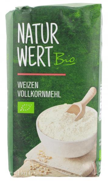 NaturWert Bio Weizenmehl Vollkorn