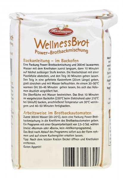 Küchenmeister Backmischung Wellness Brot