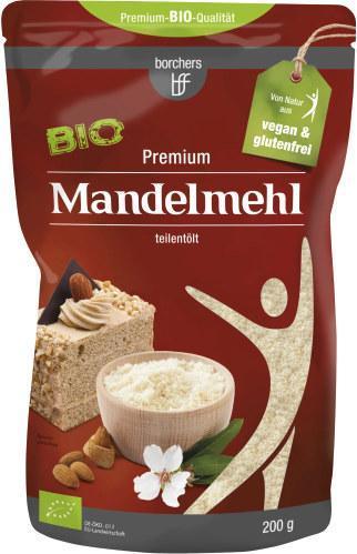 Borchers Bio Mandelmehl teilentölt