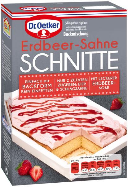 Dr. Oetker Erdbeer-Sahne Schnitte