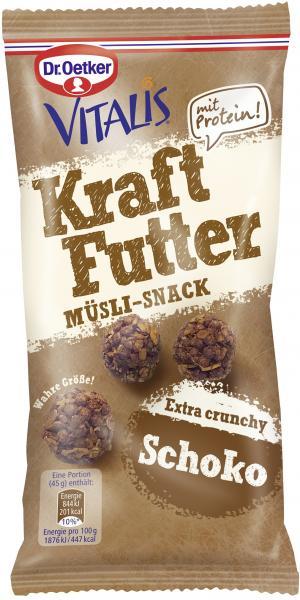 Dr. Oetker Vitalis Kraftfutter Müsli-Snack Schoko