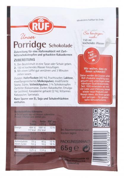 Ruf Porridge Schoko