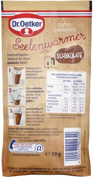 Dr. Oetker Seelenwärmer Pudding Schokolade