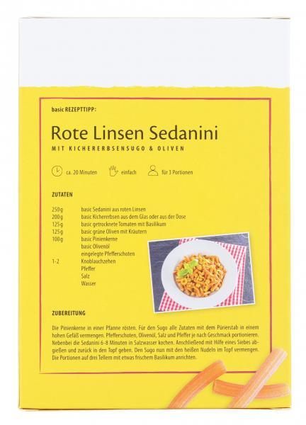 Basic Sedanini-Nudeln aus roten Linsen