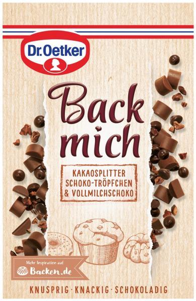 Dr. Oetker Back Mich Kakaosplitter Schoko-Tröpfchen & Vollmilchschoko