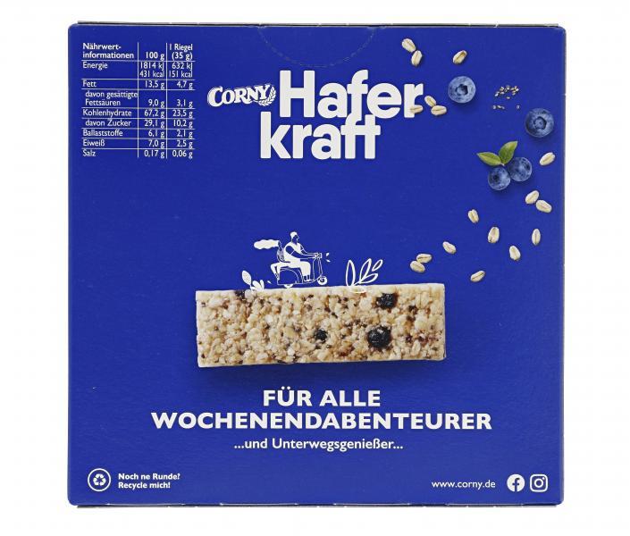 Corny Müsli-Riegel Haferkraft blueberry-chia