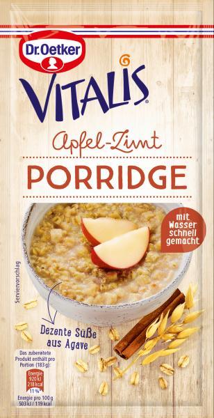 Dr. Oetker Vitalis Porridge Apfel-Zimt