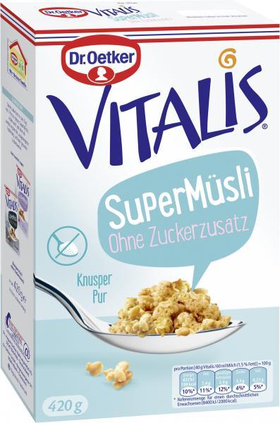 Dr. Oetker Vitalis SuperMüsli Knusper pur