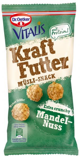 Dr. Oetker Vitalis Kraftfutter Müsli-Snack Mandel-Nuss