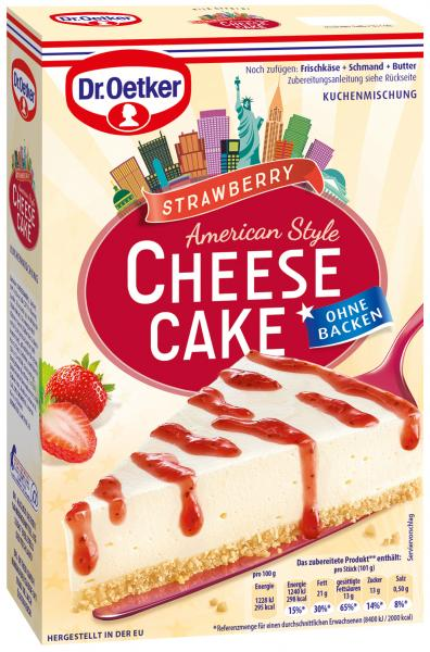 Dr. Oetker Cheesecake American Style Strawberry