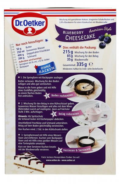 Dr. Oetker Cheesecake American Style Blueberry