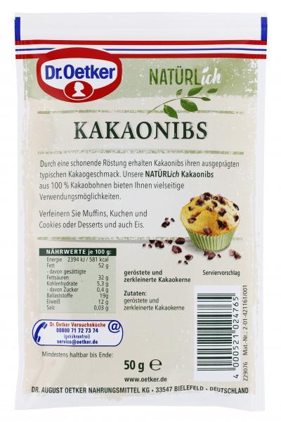 Dr. Oetker Natürlich Kakaonibs