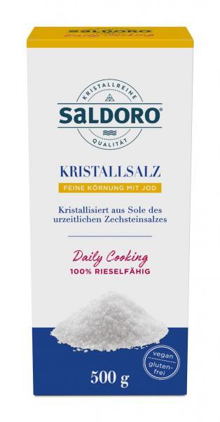 Saldoro Kristallsalz Feine Körnung mit Jod