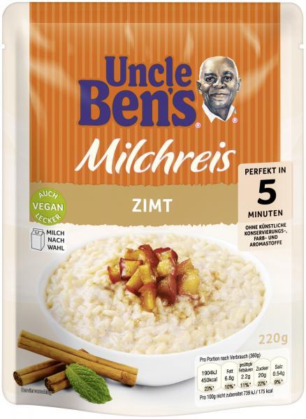 Uncle Ben's Express Milchreis Zimt