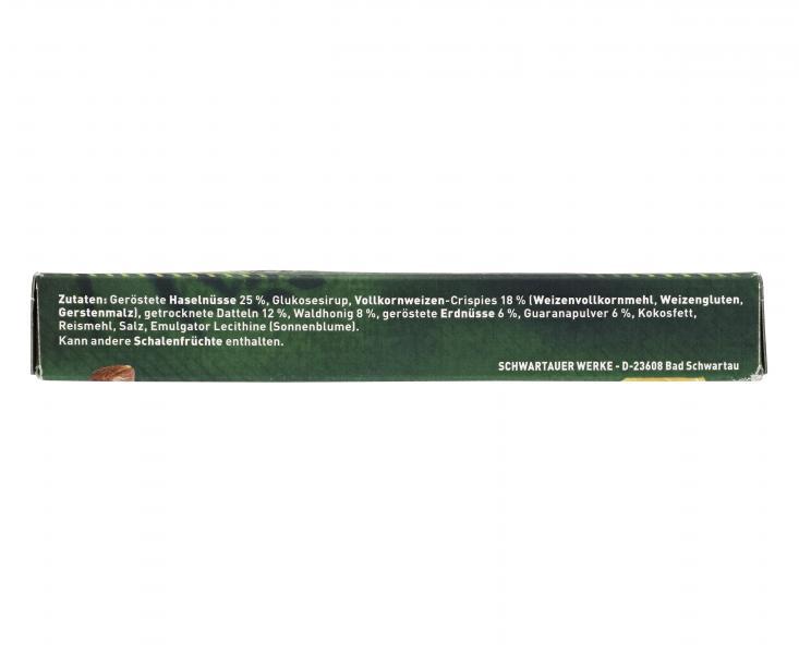 Corny Energy Riegel mit Guarana Haselnuss, Dattel + Waldhonig