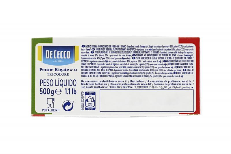 De Cecco Penne Rigate No. 41 Tricolore