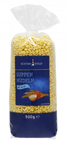 Küstengold Suppen Nudeln Muscheln
