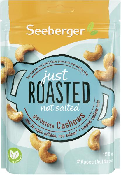 Seeberger Just Roasted Cashews