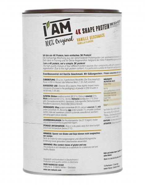 I'AM 4K Shape Proteinpulver Vanille Geschmack