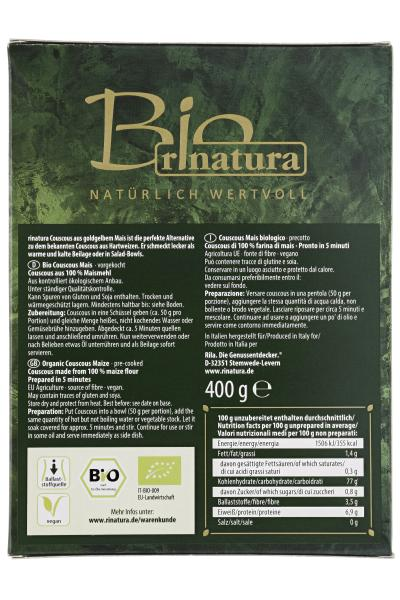 Rinatura Bio Daily Green Couscous aus Mais
