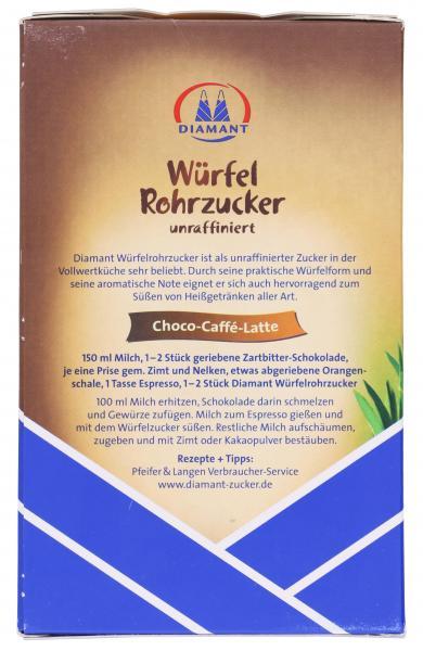 Diamant Würfel Rohrzucker unraffiniert