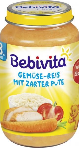 Bebivita Menü Gemüse-Reis mit zarter Pute
