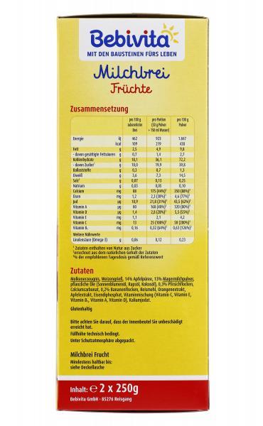 Bebivita Milchbrei Früchte