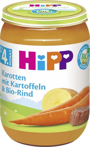 Hipp Karotten mit Kartoffeln & Bio-Rind