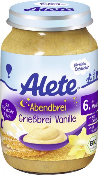 Alete Grießbrei mit Vanille
