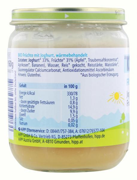 Hipp Früchte-Duett Joghurt auf Früchten