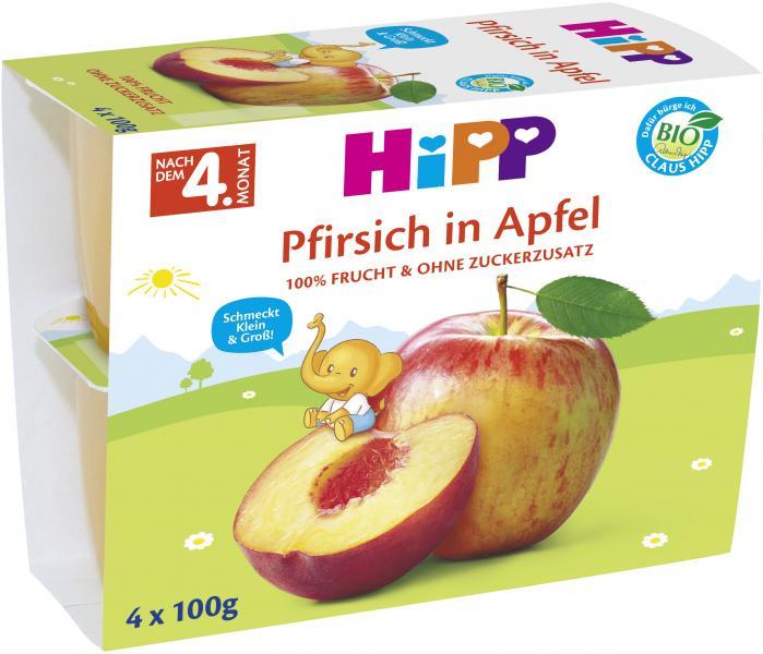 Hipp Frucht-Pause Pfirsich in Apfel