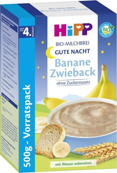 Hipp Bio Milchbrei Gute Nacht Banane-Zwieback