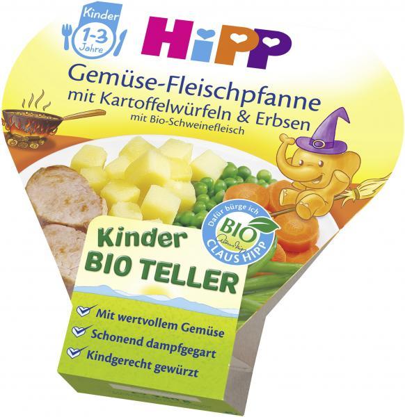 Hipp Gemüse-Fleischpfanne mit Kartoffelwürfeln & Erbsen