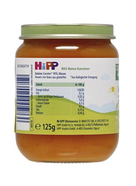 Hipp Reine Bio-Karotten mild-süßlich