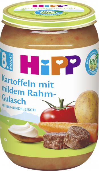 Hipp Kartoffeln mit mildem Rahm-Gulasch