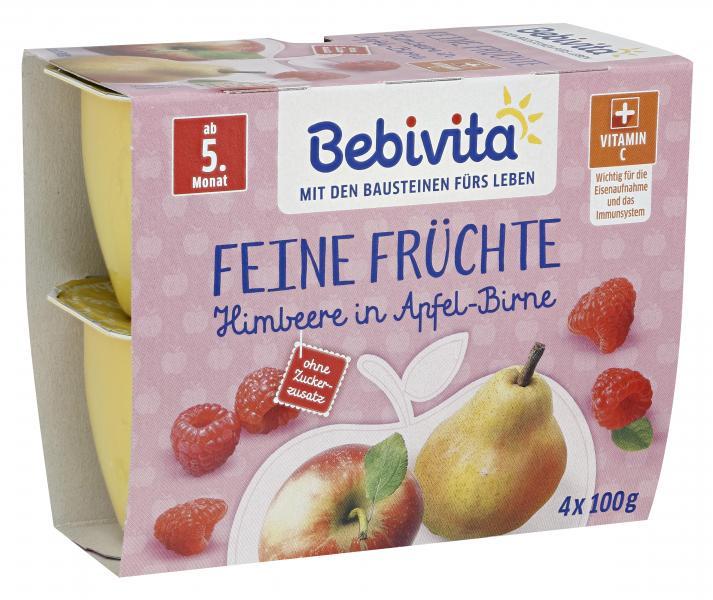 Bebivita Feine Früchte Himbeere in Apfel-Birne